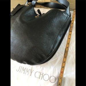 Jimmy Choo black hobo bag